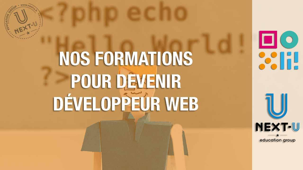 Découvrez nos formations pour devenir développeur web